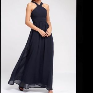 AIR OF ROMANCE NAVY BLUE MAXI DRESS from Lulu's